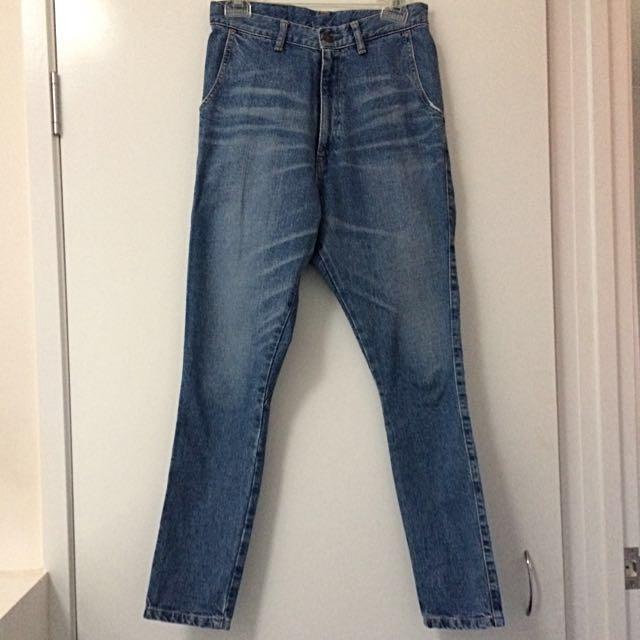 BASSIKE Size 25 Lo Slung Jean Japanese Organic Cotton