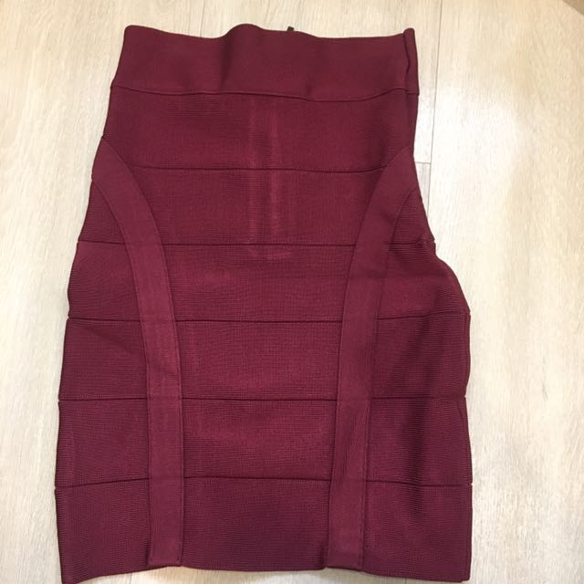 Bebe red span rok skirt