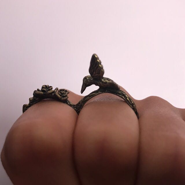 Bird and Nest Ring Size S-M
