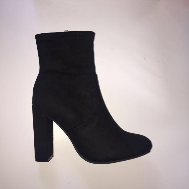 Black Ankle Sock Boots