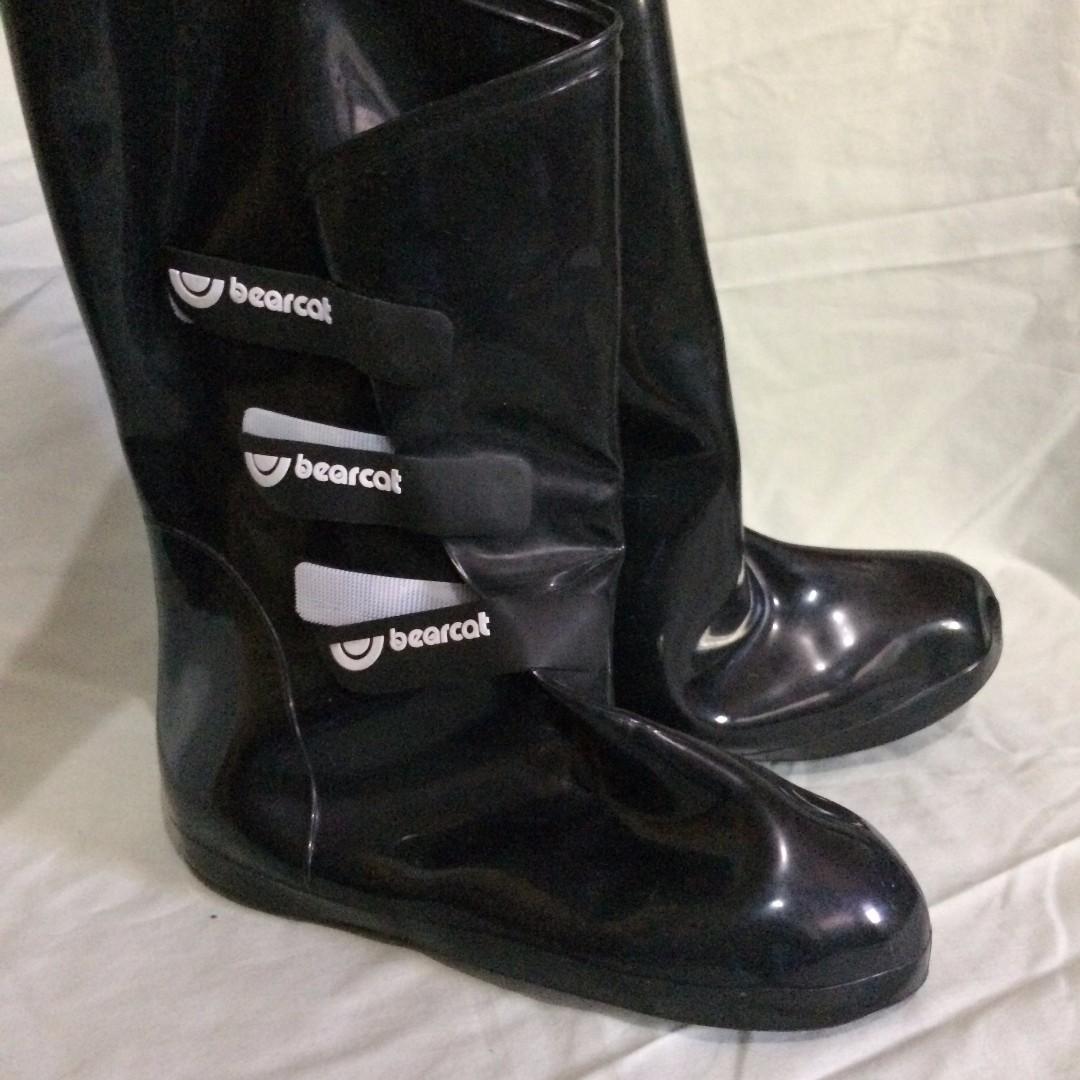 Black Bearcat Rainboots