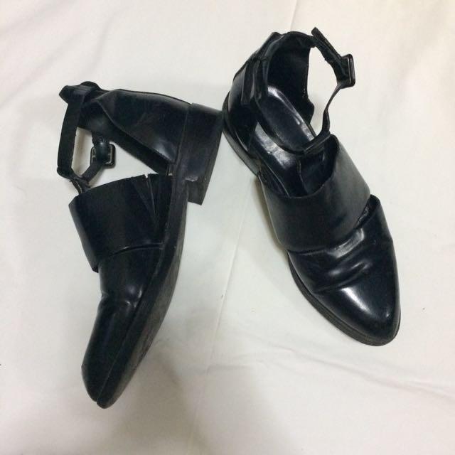 Black Cutout Boots