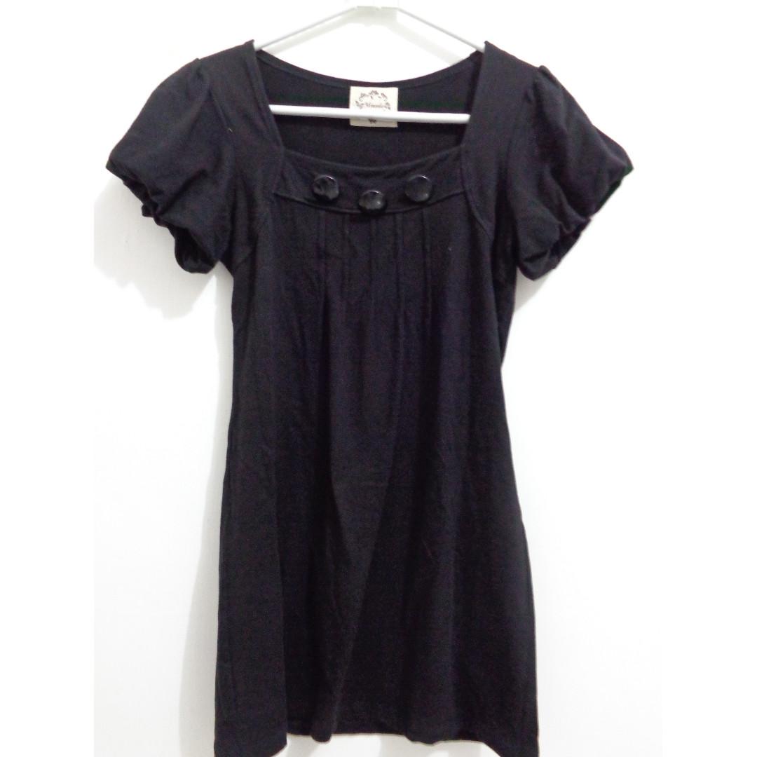 Black Mini Dress Hitam
