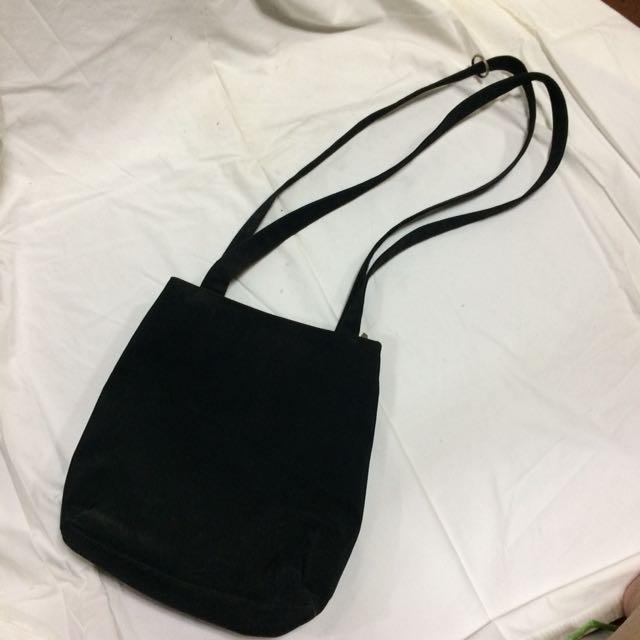 Black Shoulder Bag (Two Strap)