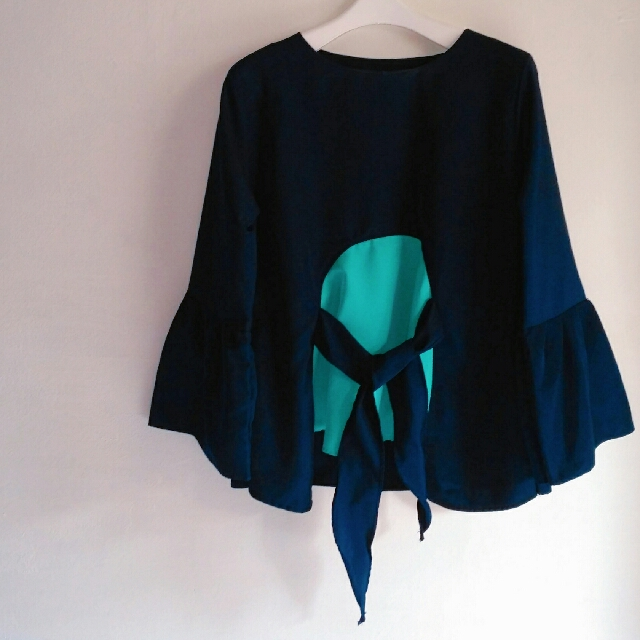 Blouse Stitch Color Navy Fit to XL