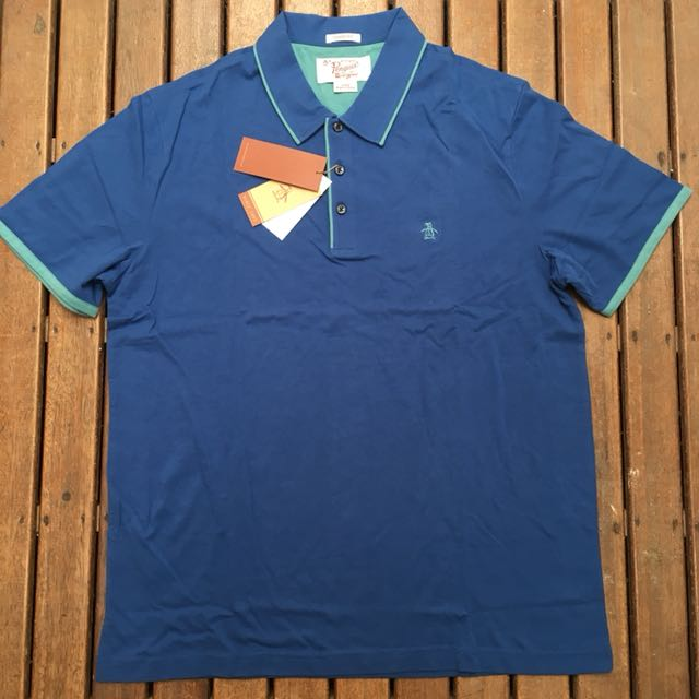 BNWT Original Penguin Contrast Tipping Polo - Large Classic Fit