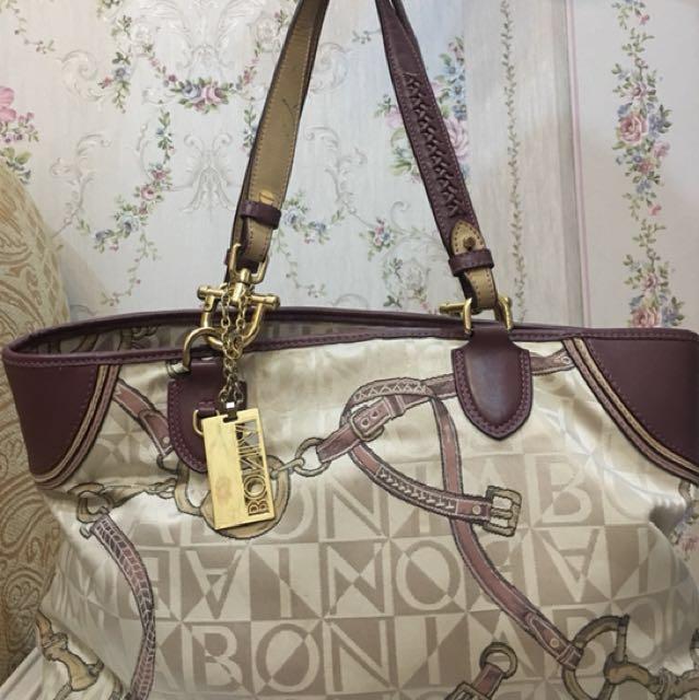 Bonia purple and cream bag ORIGINAL!