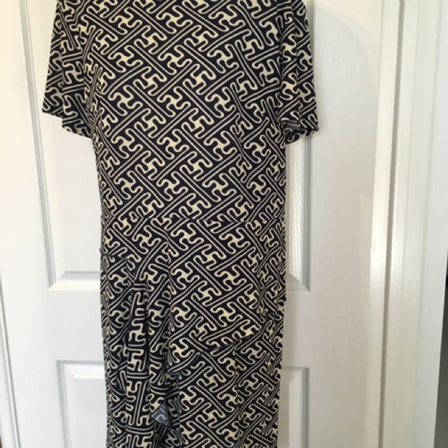 Brand new and still with tags Sweet Girl Patterned Navy and Beige dress Size 14