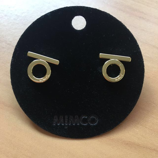Brand new Mimco charmer stud earrings in gold