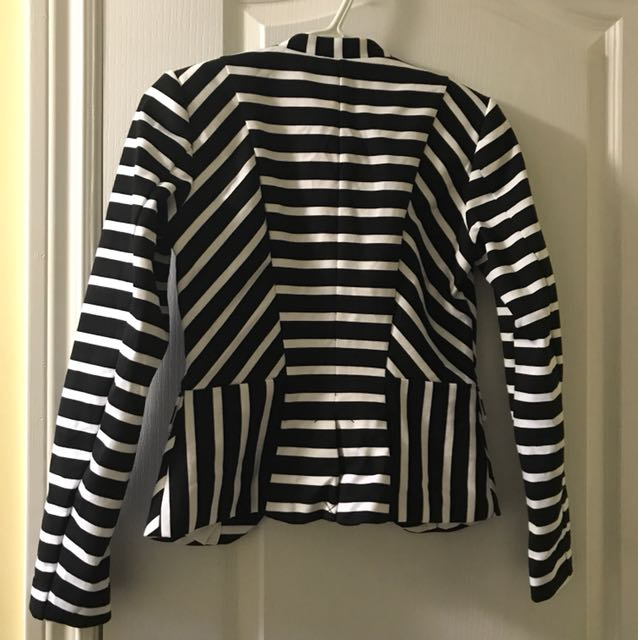 BxW Striped H&M Blazer
