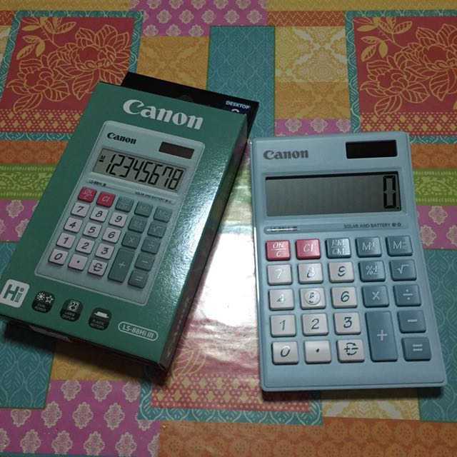 Canon pastel green calculator