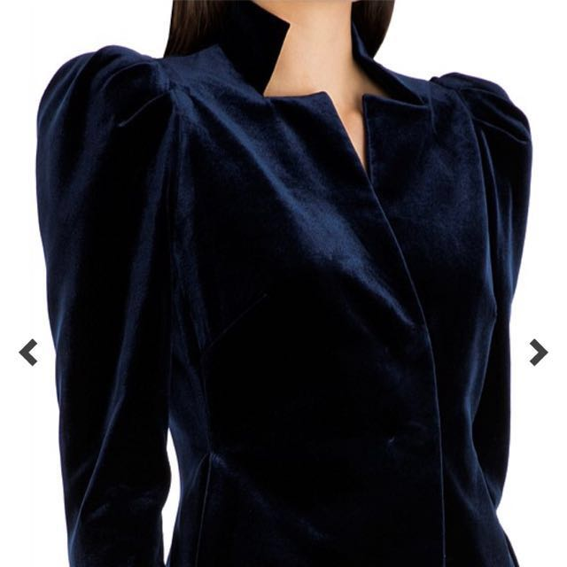 Carla Zampatti Midnight Blue Velvet Evening Jacket