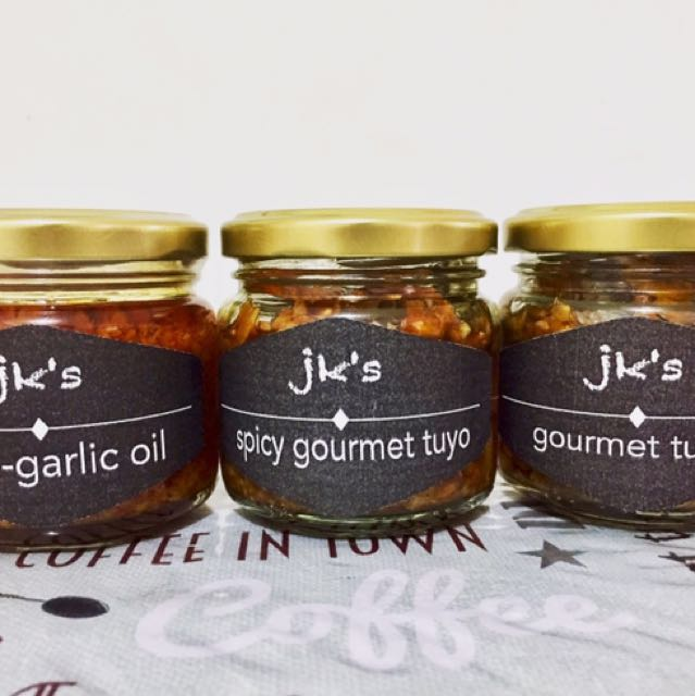 chili garlic & gourmet tuyo in pure olive oil