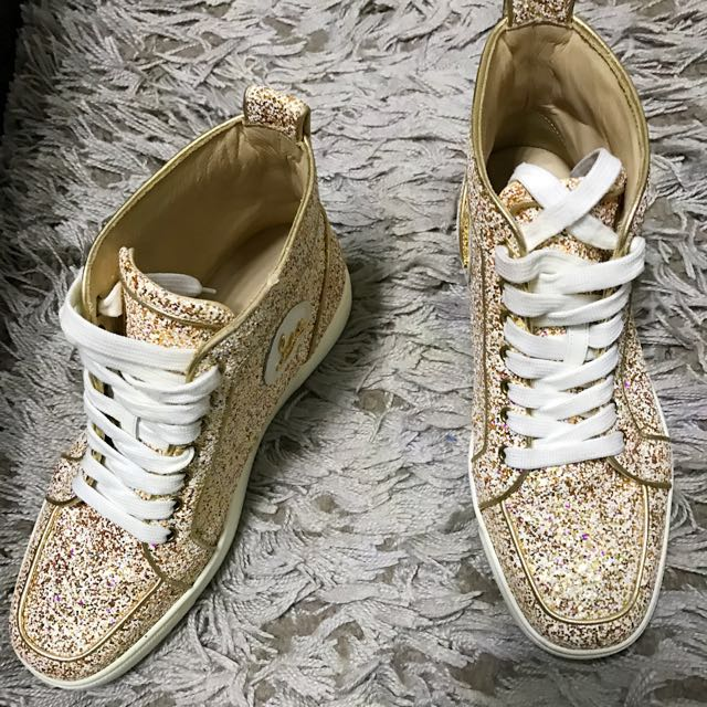 quality design c1223 9938b Christian Louboutin high TOP glitter sneakers, Women's ...