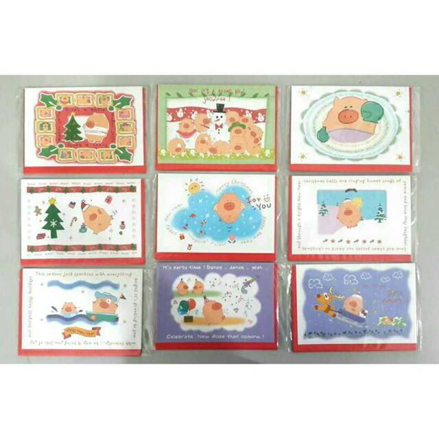 Christmas Card Piggy Wiggy