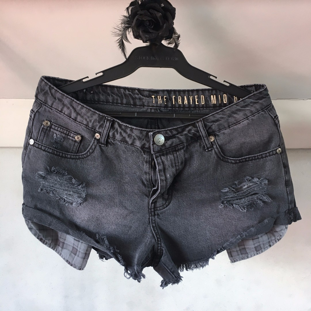 Cotton On Distressed / Frayed Mid-rise Shorts