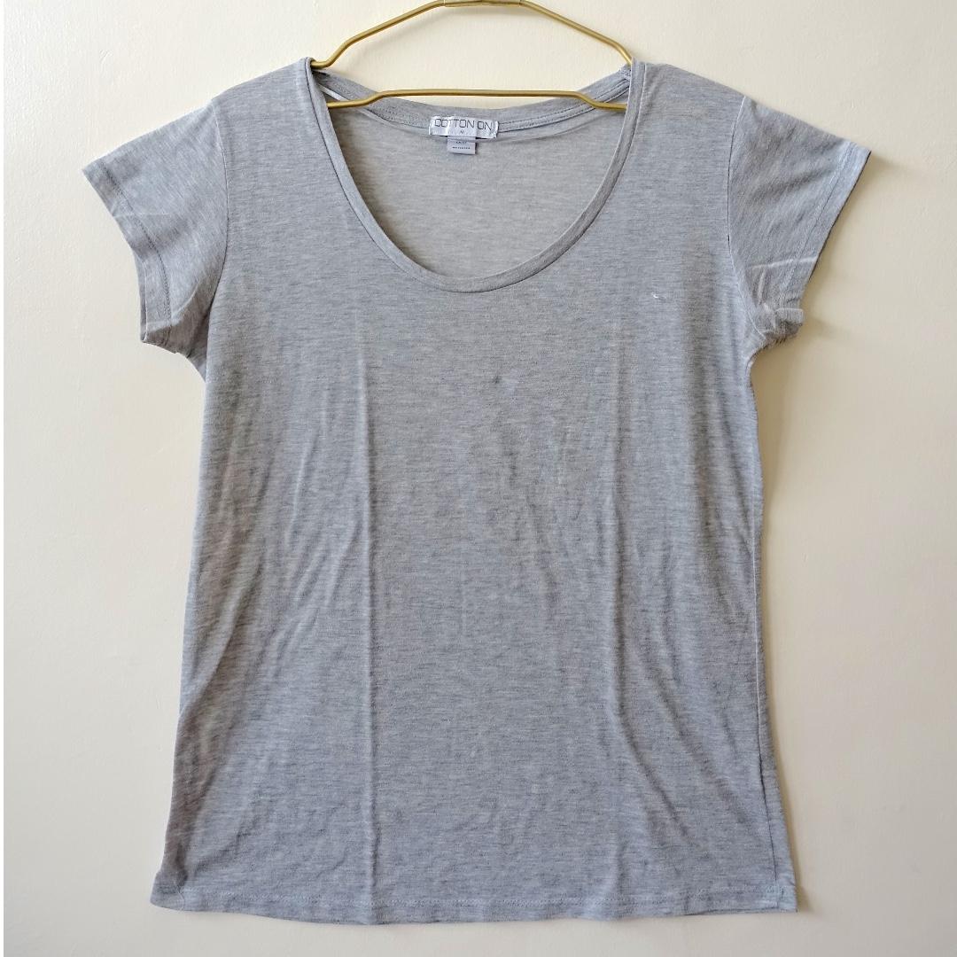 Cotton On Grey Cotton Shirt (Size Medium)