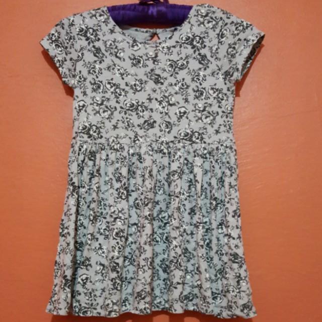Cubus Gray Floral Dress