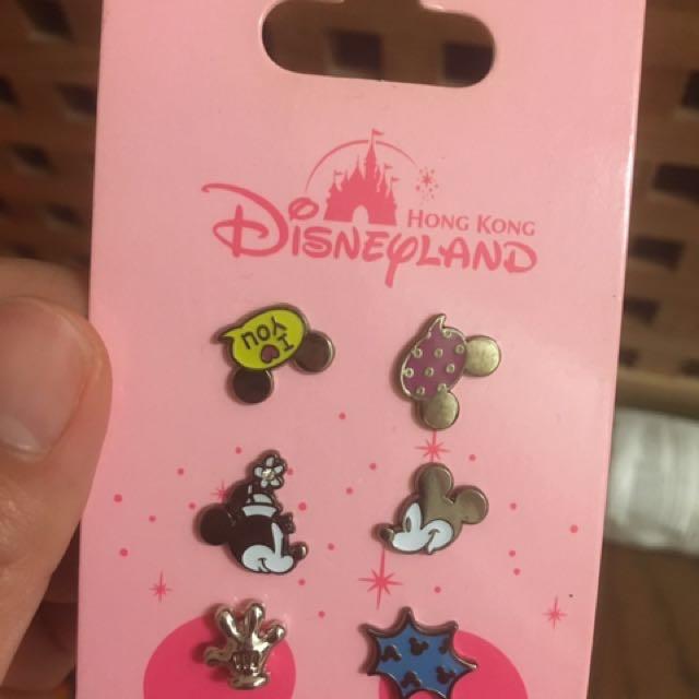 Disney 迪士尼 米奇米妮 耳環 全新