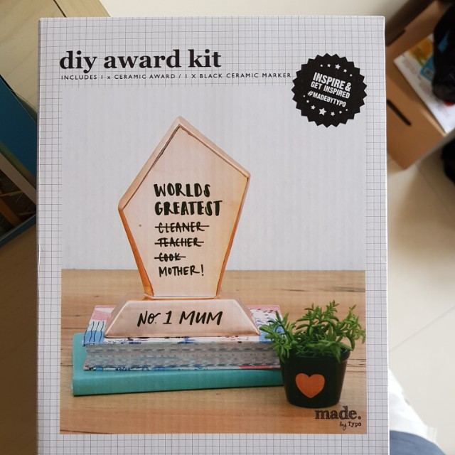 DIY award kit by Typo, Design & Craft, Others on Carousell