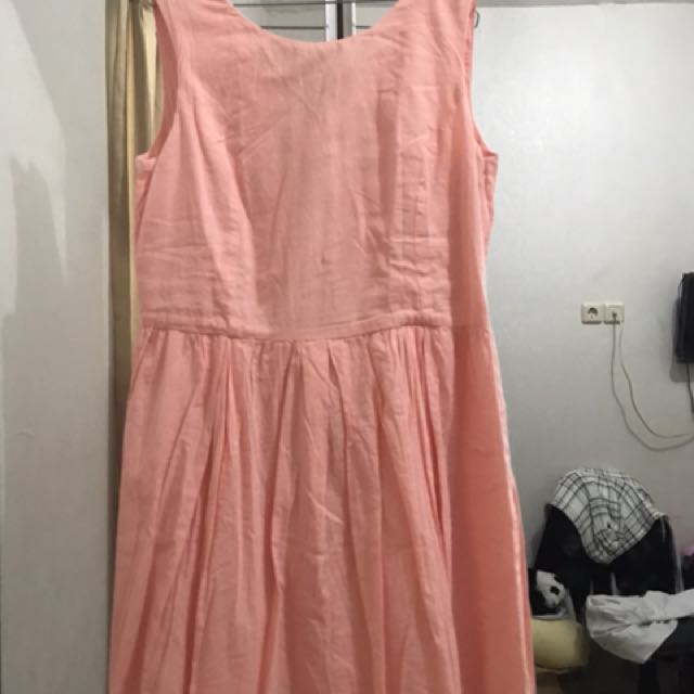 Dress pink salmon by MANGO