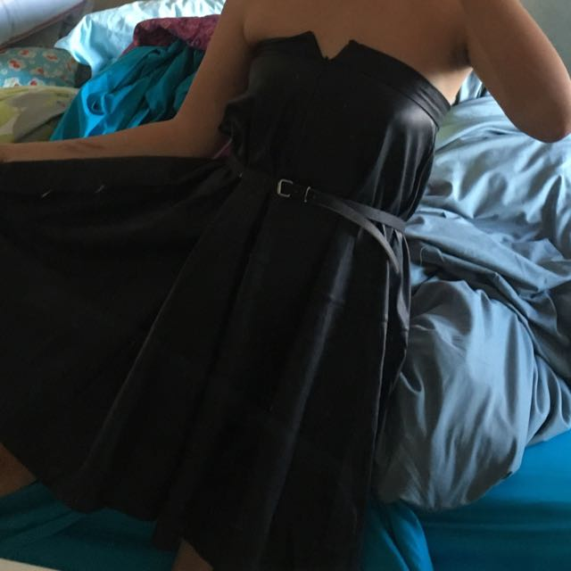 Faux leather skirt or dress