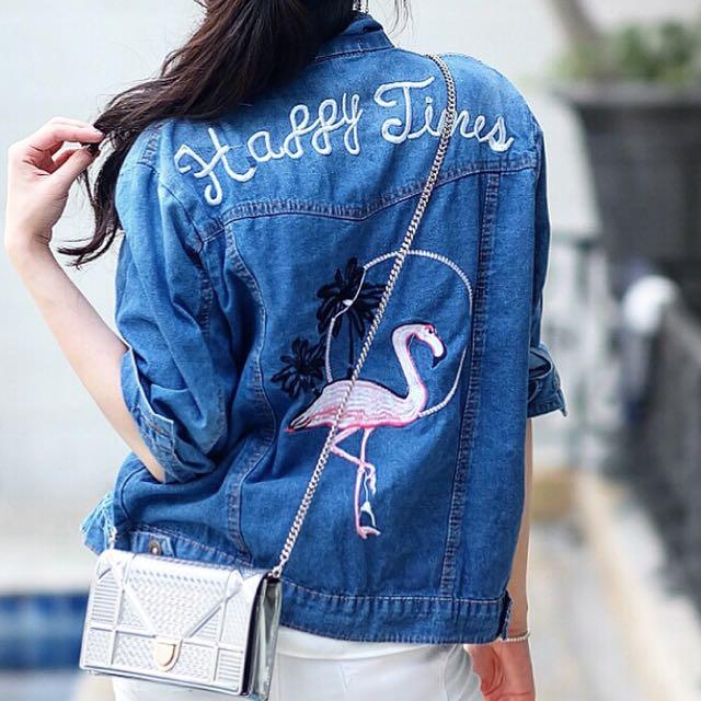Flamingo jacket jeans
