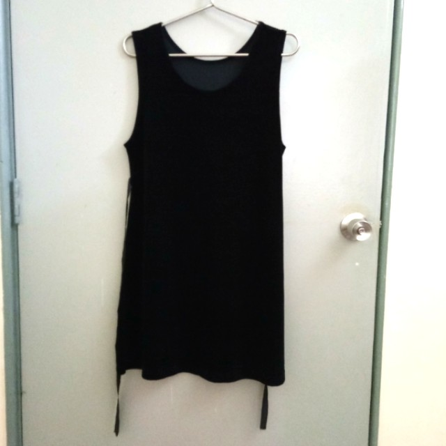 Flannel Black Dress