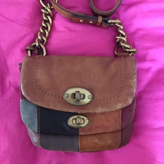 Fossil vintage sling bag