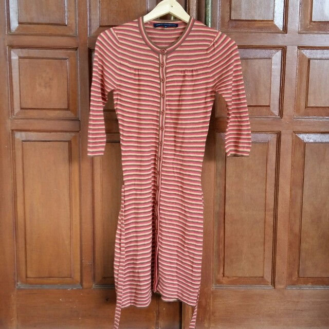 FCUK French Connection Stripes Knitted Dress Authentic