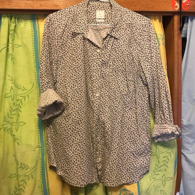 Gap boyfriend fitted 小碎花襯衫 M號 穿不到2次 含運