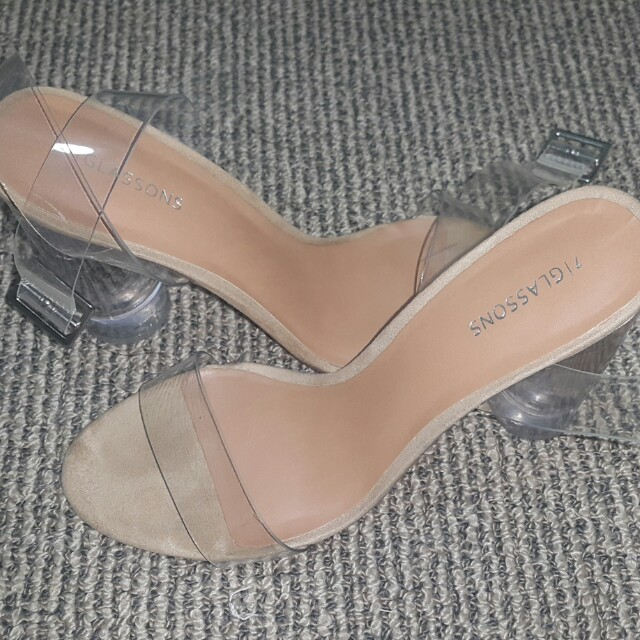 GLASSONS CLEAR HEELS