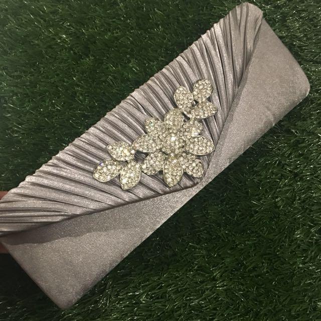 Gray Diamond Clutch