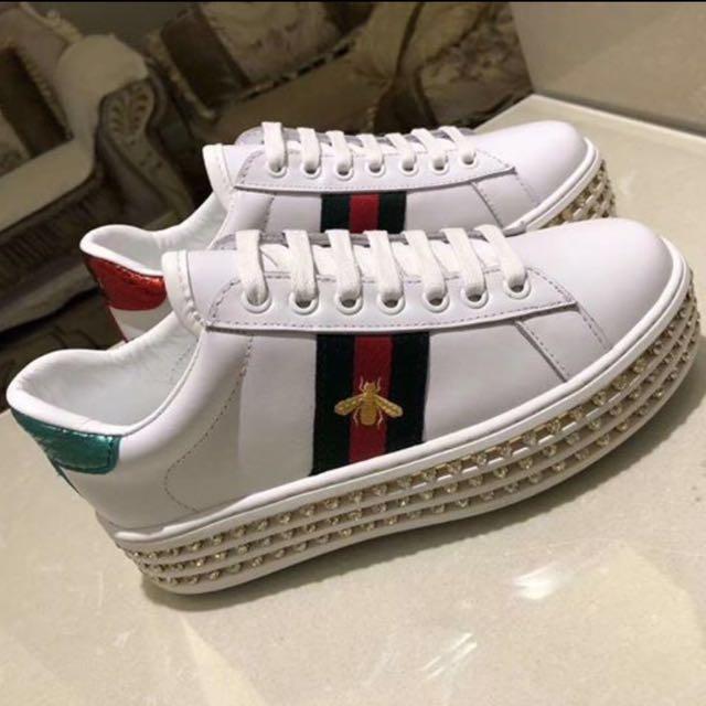 Gucci Jewelled Platform Shoes