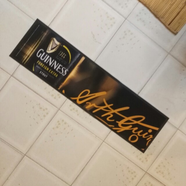 Guinness bar mat