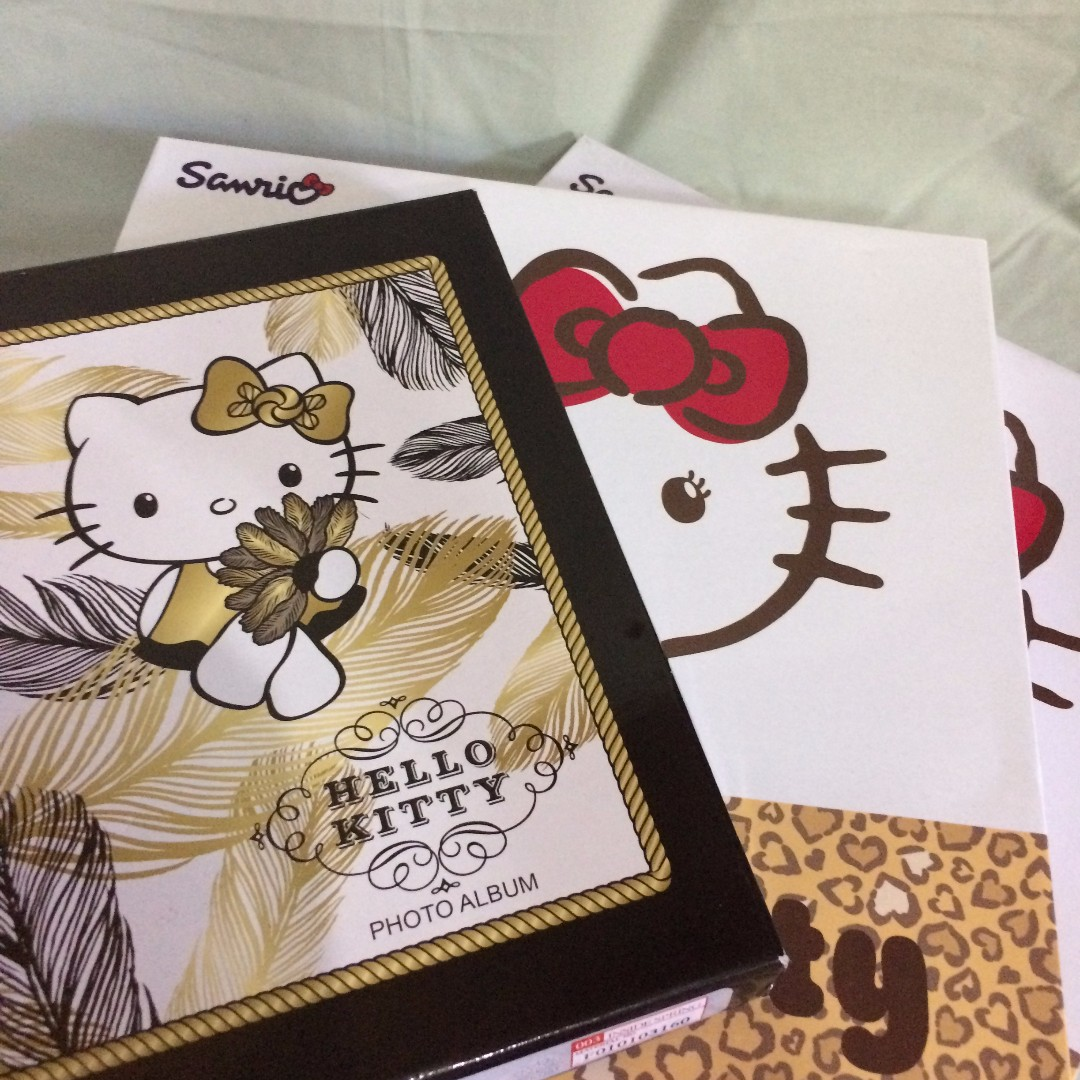 Hello Kitty Photo Album (Original PH License) - Black & Gold Vintage