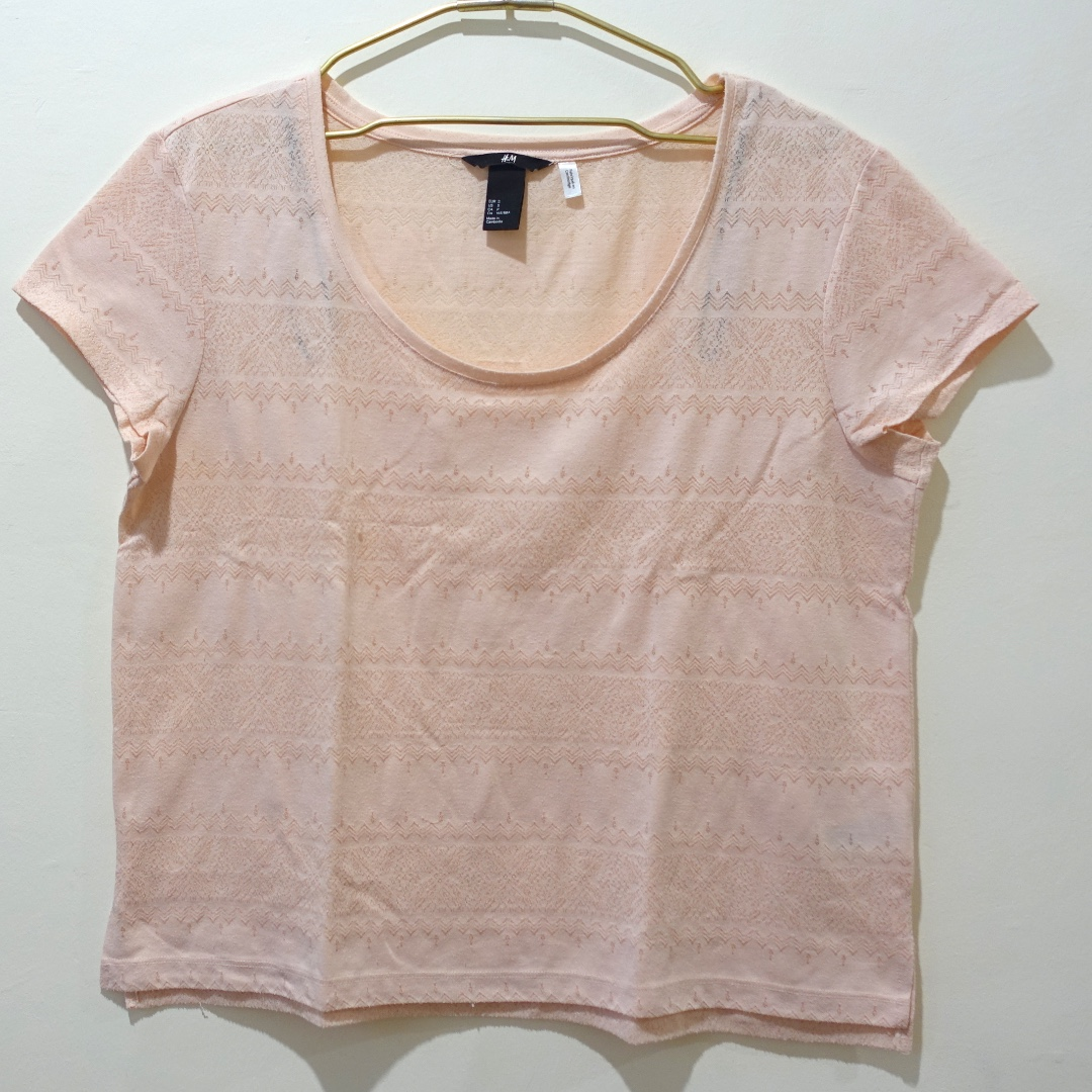 H&M Millenial Pink Shirt (Size Small)