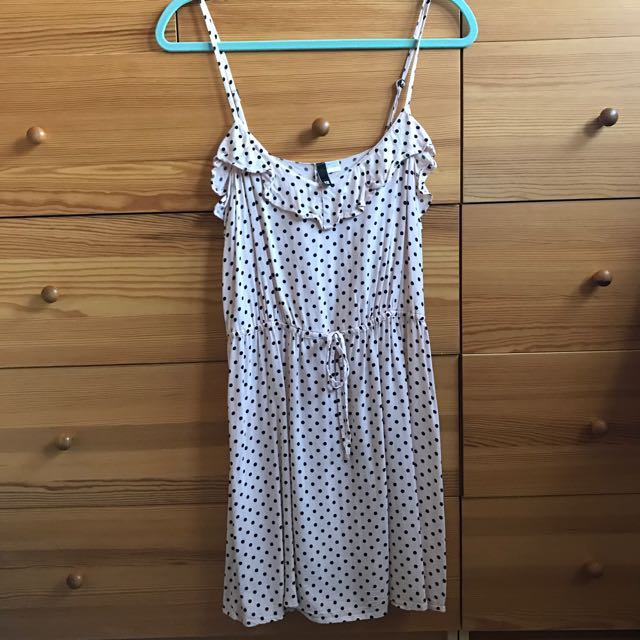 H&M Pink Polka Dotted Dress Size 12