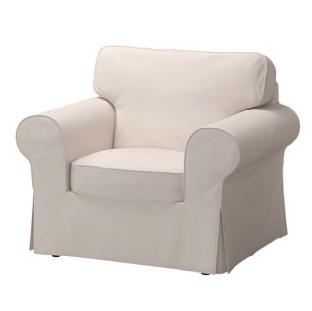IKEA Ektorp beige sofa chair