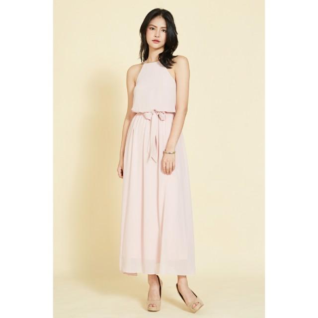fec1691c128 BN Intoxiquette PHILLIANE DRAPE CHIFFON MAXI DRESS IN PINK, Women's ...