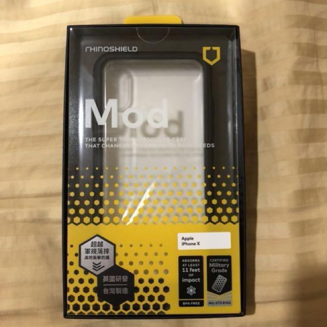 IphoneX 專用 犀牛盾防摔殼 (邊框+透明背蓋)原價890喔