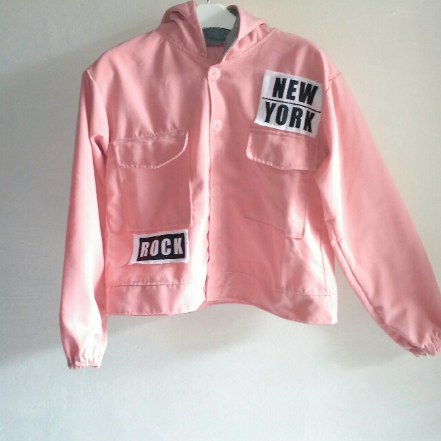 Jacket New York Pink Size Fit to XL