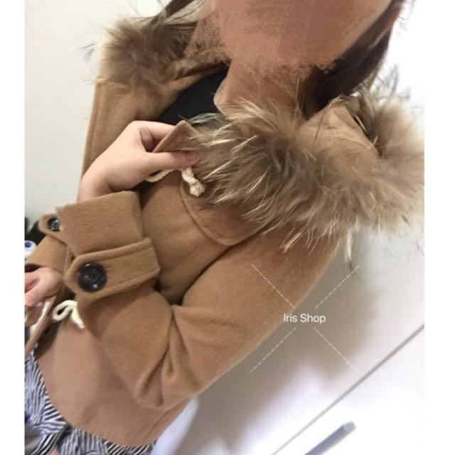 Kashin 牛角外套實穿 S 杏色 大衣