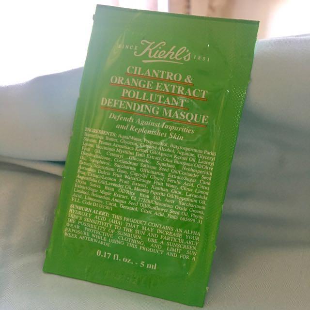 Kiehl's Cilantro & Orange Extract Pollutant Defending Masque (Sample)