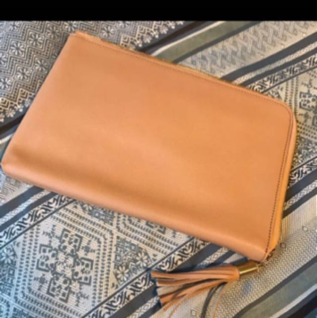 Kookai leather clutch