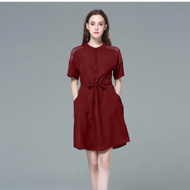 Lace Drawstring Dress