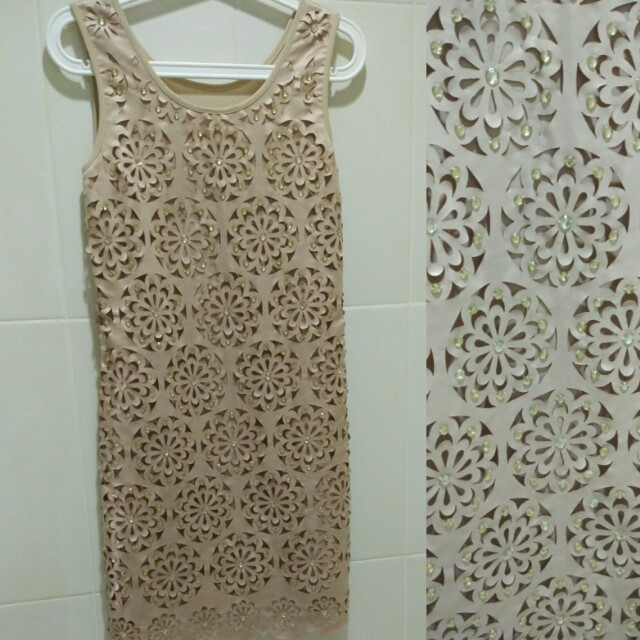 Laser Cut Dress with beads - for party