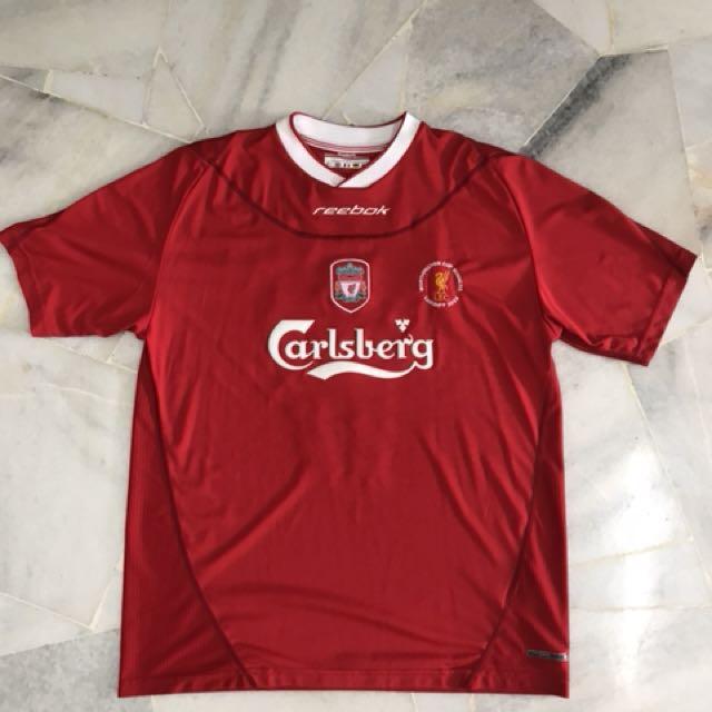 sneakers for cheap 83cfd 2a748 Liverpool fc Reebok Home Football Shirt Gerrard #17