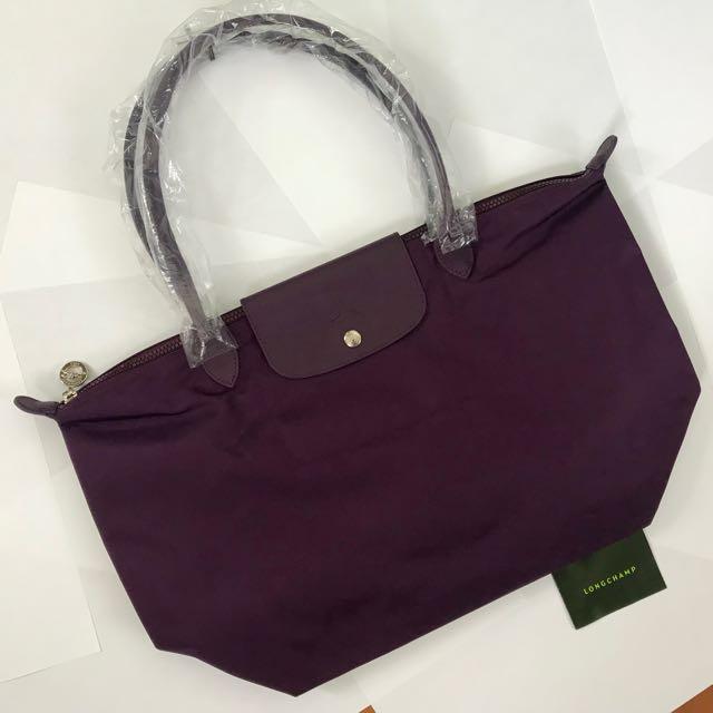 297bfdea4a14 Longchamp Le Pliage Neo Bilberry Purple Shoulder Bag (Authentic ...