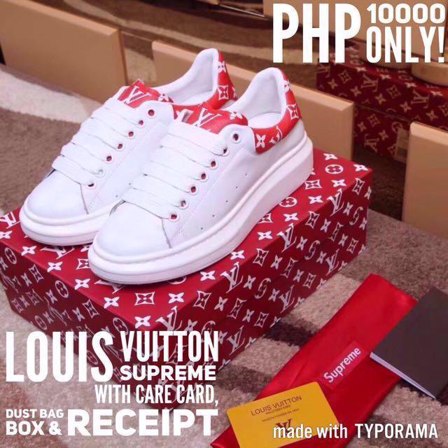 reputable site 21954 de3ec Louis Vuitton x Supreme Collaboration Sneakers, Men s Fashion ...